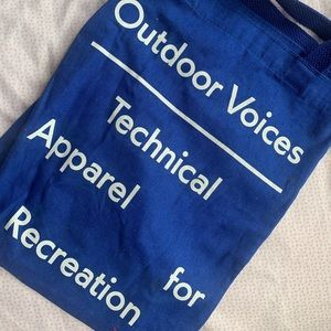 (OUTDOOR VOICES) blue reusable canvas tote